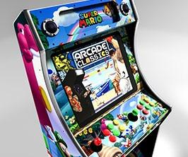up close mario arcade